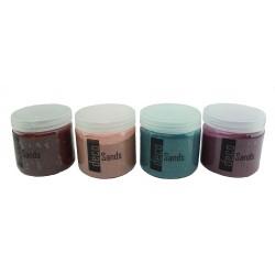 Arenas Decorativas Granate, Rosa, Azul y Morado