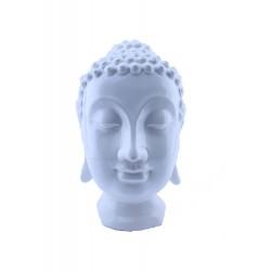Cabeza Buda Blanca grande